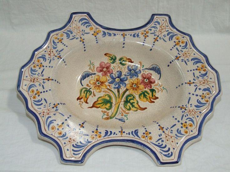 Bacia Greca y Ramo Borde azul - www.artesania-alla.es