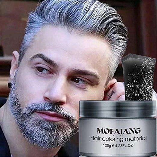 Amazon.com: GARYOB Silver Gray Hair Wax Natural Ash Matte Long-lasting Professional Strong Hair Lacquers Gel Cream 4.23oz for Men and Women: Beauty