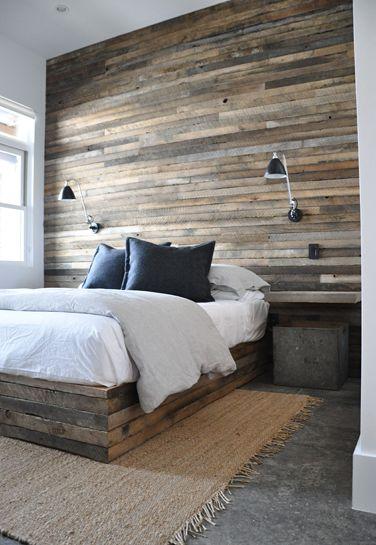 barn beauty | a thoughtful eye. Wooden bed/headboard