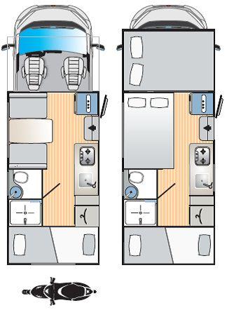 RIMOR SEAL 7: ideal para familias, 6 plazas, dos camas dobles y dos literas.