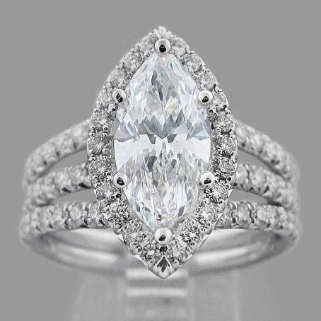 marquise diamond ring | Our Story Marquise Diamond Engagement ring with Pave set diamonds ...