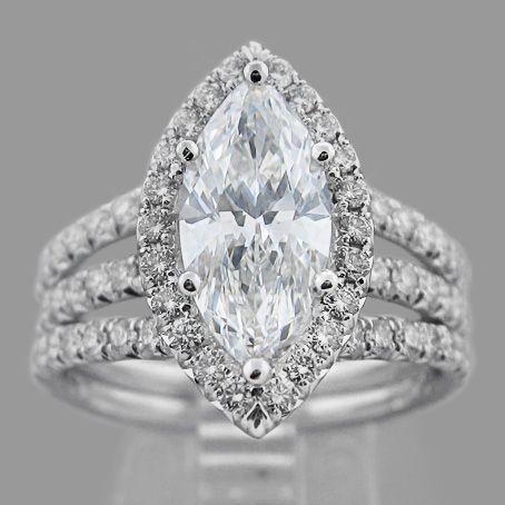 marquise diamond engagement rings - 14
