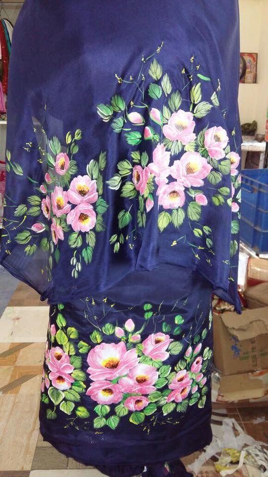 Hand paint punjabi suit on pure fabric