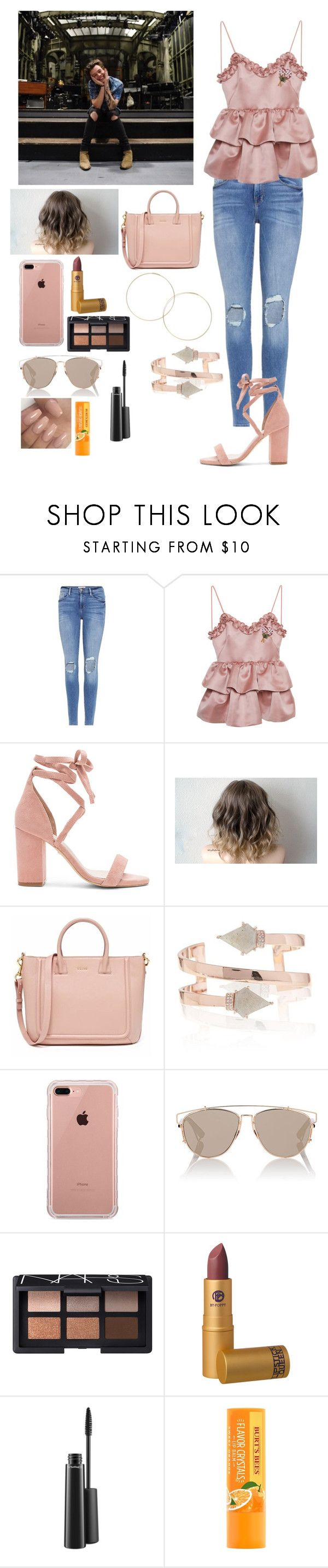 """""""SNL with harry"""" by joelene-garcia ❤ liked on Polyvore featuring Frame, VIVETTA, Raye, Belkin, Christian Dior, NARS Cosmetics, Lipstick Queen and MAC Cosmetics"""