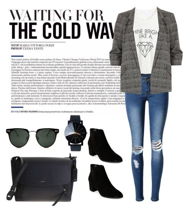 """Cold Wave"" by ann-kim-1 on Polyvore featuring WithChic, River Island, Franco Sarto, DKNY and Spitfire"