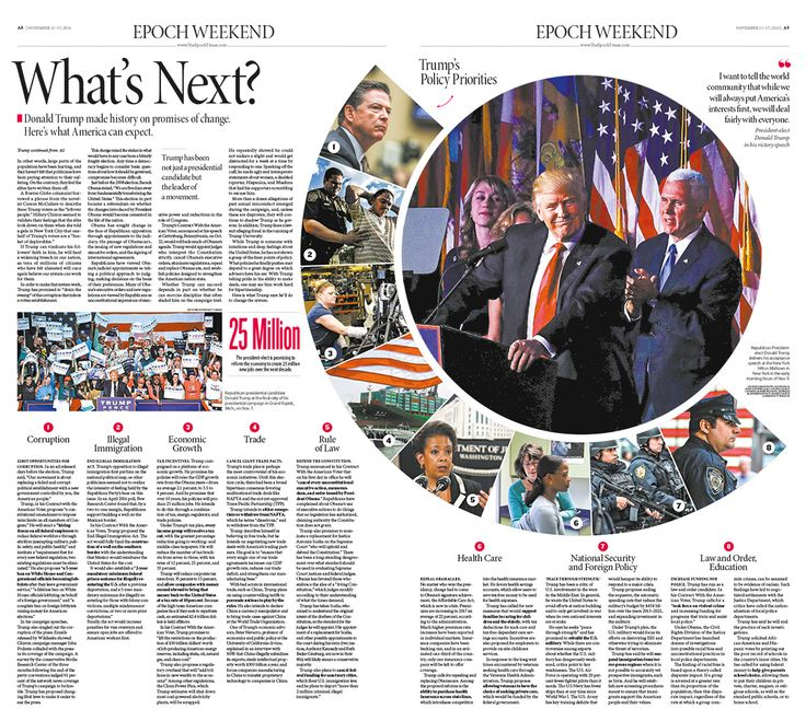 What's Next Epoch Times #DonaldTrump #newspaper #editorialdesign