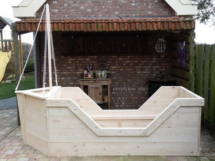 Piraten boot bed