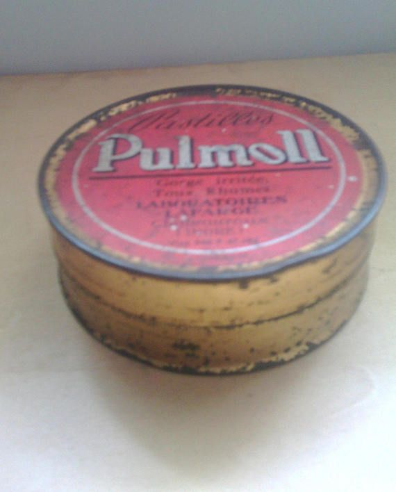 Vintage French Tin Pulmoll from France