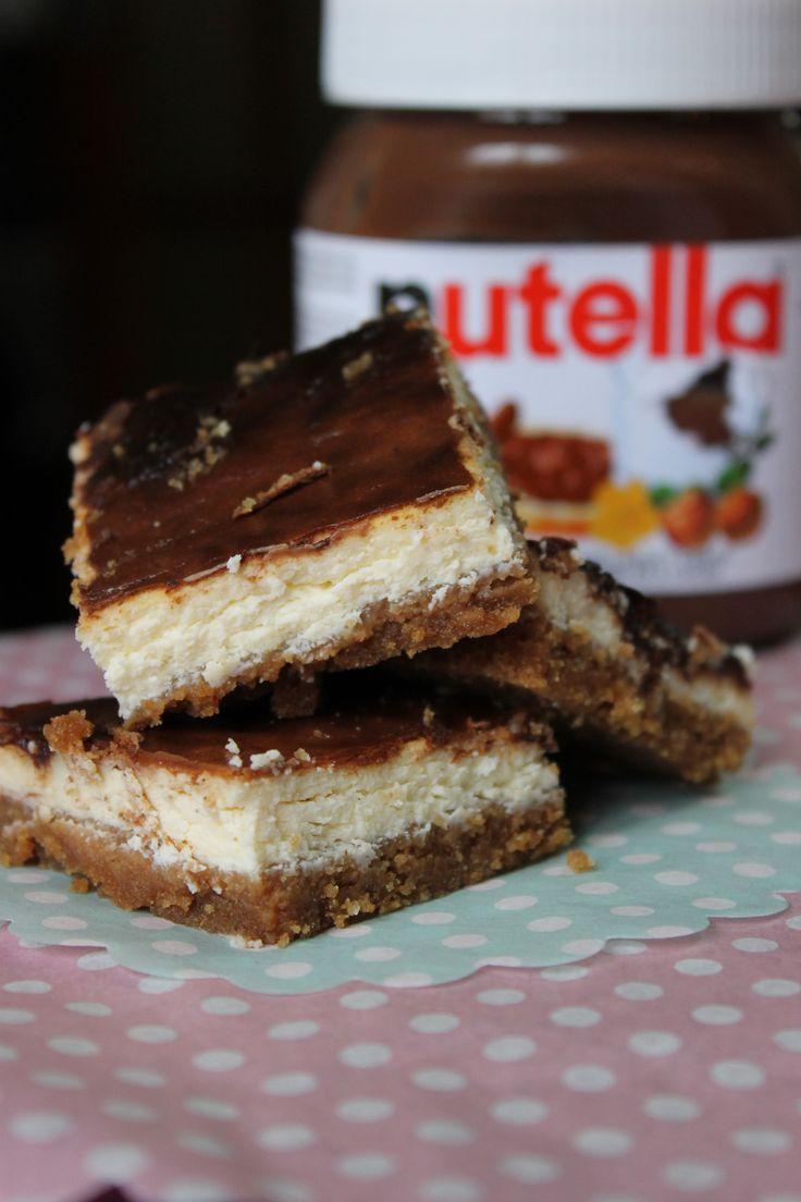 Cheesecake and Nutella Bars :: Barras de cheesecake e Nutella