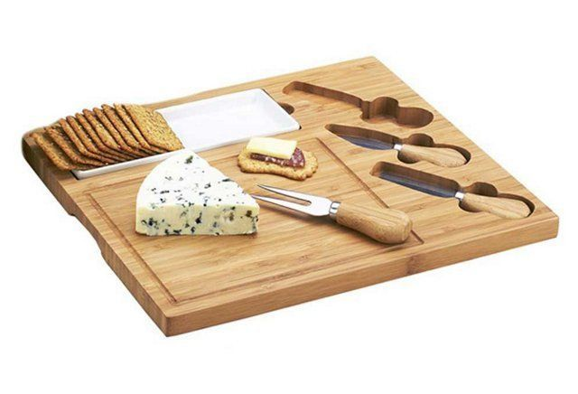 Cheese!!!  Celtic Cheese Board Set, Bamboo