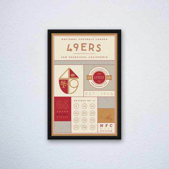 San Francisco 49ers Stats Print by DesignsByEJB on Etsy