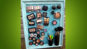 diy makeup organizing magnetic board makeup containers