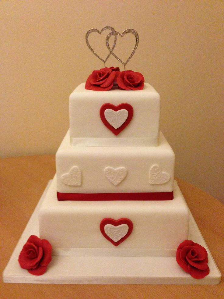 red and white square wedding cakes and white square wedding cake my wedding cakes 19094