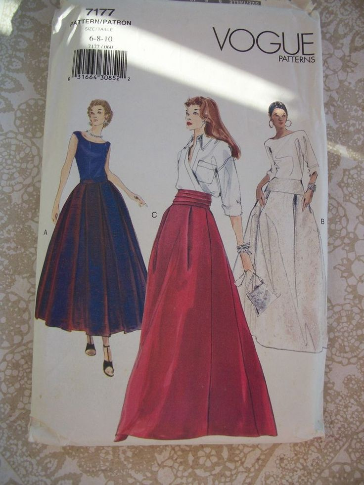 Vogue Misses Skirt Pattern 7177  Uncut size 6-8-10 With Instructions. #NewLook