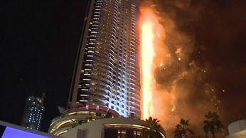 Google+ Impresionantes imágenes del incendio en rascacielos de Dubai