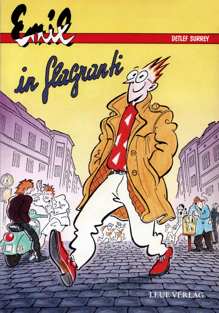 "Detlef Surrey: ""Emil - in flagranti"" Comic-Strip Sammelband, Leue Verlag Berlin, 1987. -> http://surrey.de/galerien/kategorie/emil"