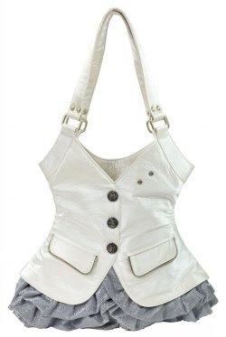 Small Suit Clothes Coat Shoulder Bag White