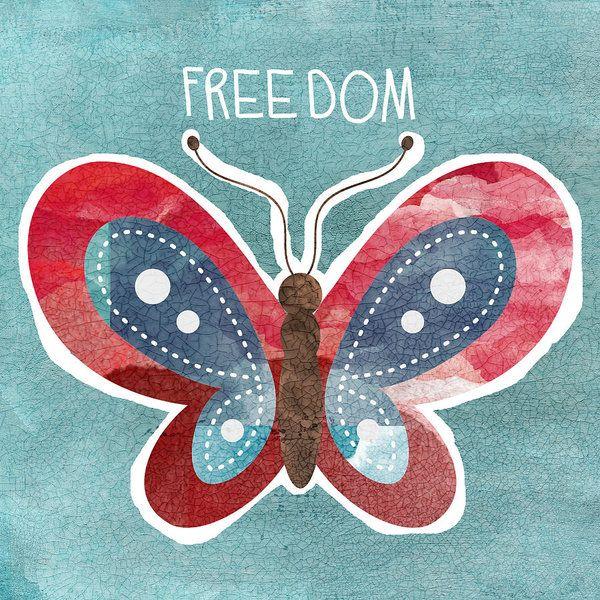 Butterfly Freedom By Linda Woods Butterfly Wall Art Freedom Art Butterfly Art