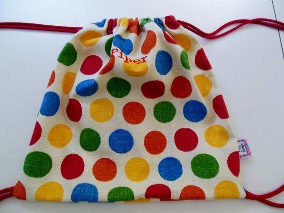 PERSONALIZED Kid backpack Lunch Bag Multi by DalyDesignbyJenn, $25.00
