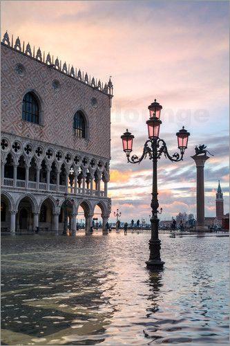 Matteo Colombo - High tide (Acqua alta) in St Marks square, Venice