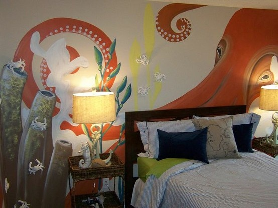 Giant squid engulfs bedroom, and I'm jealous | Offbeat Home