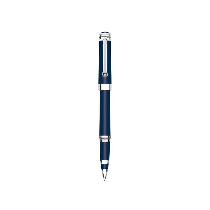 Μπλε στυλογράφος Montegrappa Parola με βιδωτό καπάκι από μπλε ρητίνη και ατσάλι | Στυλό Montegrappa ΤΣΑΛΔΑΡΗΣ στο Χαλάνδρι #parola #montegrappa #στυλογραφοι #tsaldaris