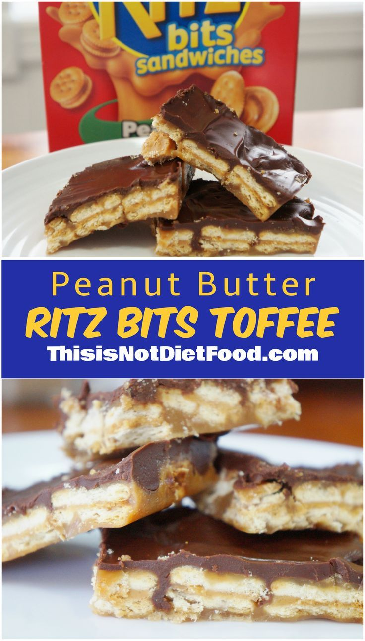 Awesome toffee made with Peanut Butter Ritz Bits Sandwiches.