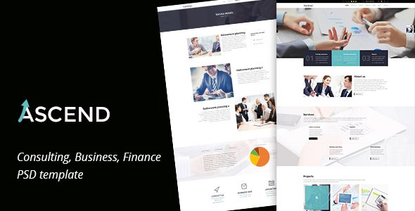 Ascend - Consulting & Finance PSD Template - Corporate Consulting PSD Template. Download here: https://themeforest.net/item/ascend-consulting-finance-psd-template/16607391?s_rank=17&ref=yinkira