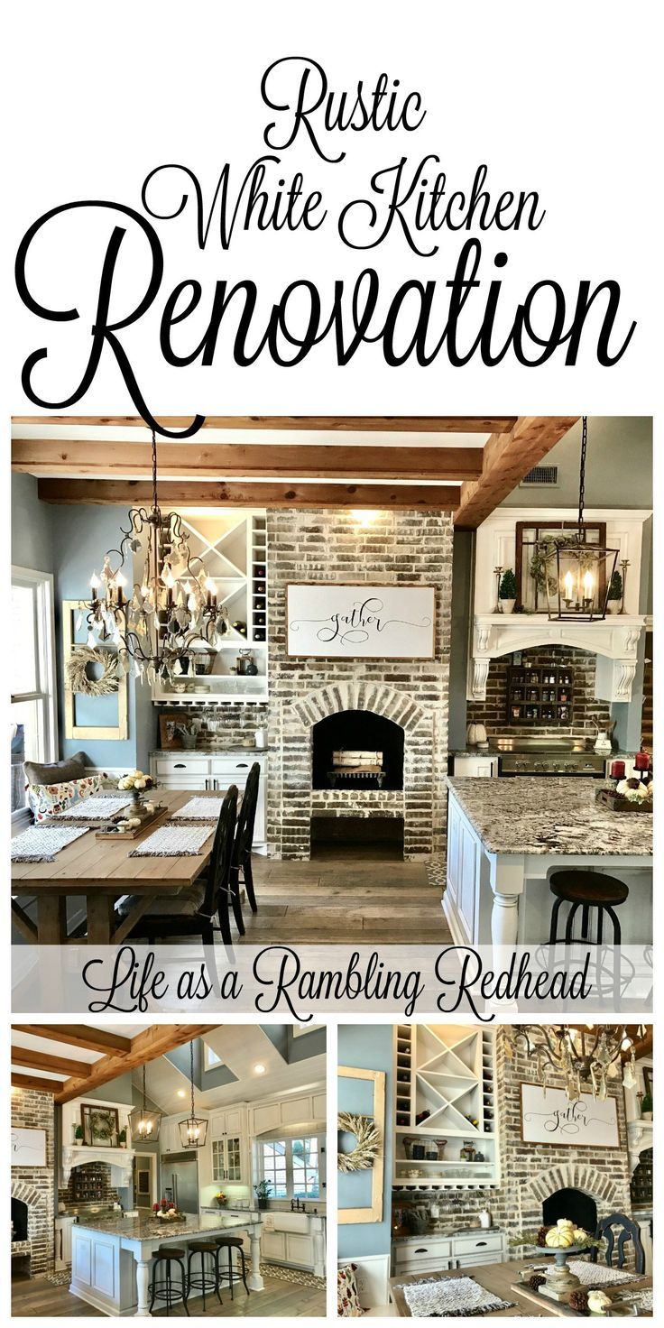 Breathtaking Rustic White Kitchen... so much eye candy! #farmhouse {Life as a Rambling Redhead}