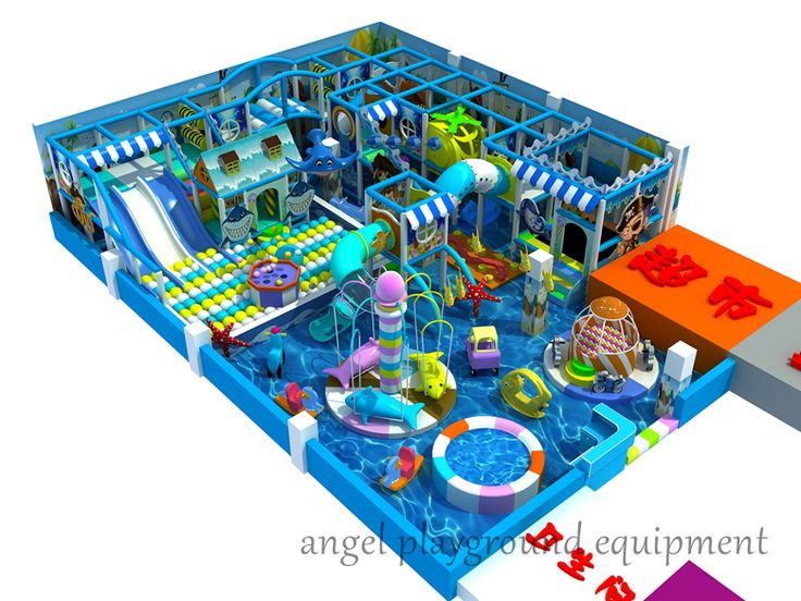 Indoor Playground Equipment For Toddlers, This Integrate Kids Playground  Equipment Have Two Separate Area, The Carousel And Play Structures Play  Area. ...