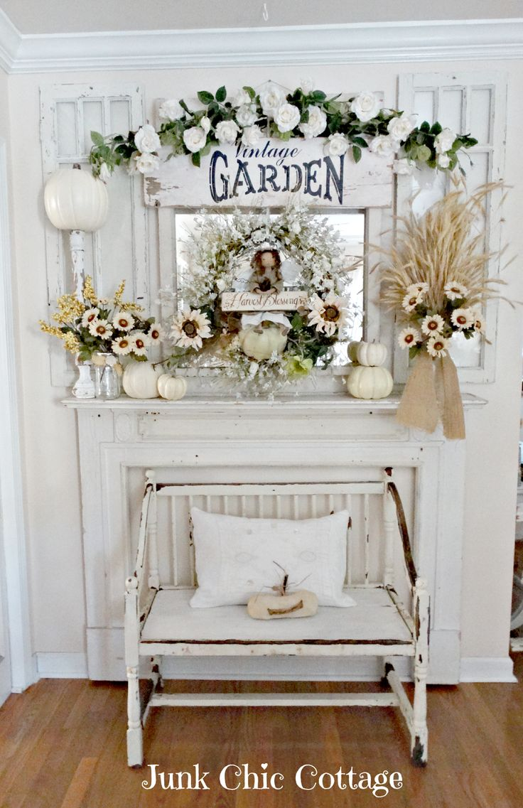 Junk chic cottage fall is in the air fall decorating for Kleinmobel shabby chic