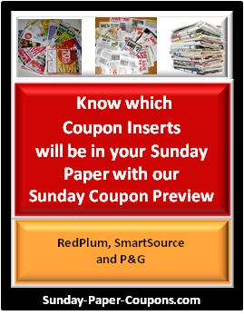With the 2016 Coupon Insert Schedule you can pre-plan your Grocery Shopping trips by knowing which inserts (Red Plum, SmartSource and P&G) will be in the Sunday Paper.