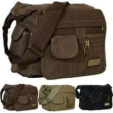 Tasche Umhängetasche Messenger-Bag aus Canvas Segeltuch Baumwolle SYDNEY