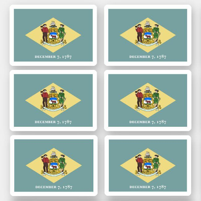Flag Of Delaware American State Flag Sticker Zazzle Com In 2020 American State Flags State Flags Design Your Own Stickers