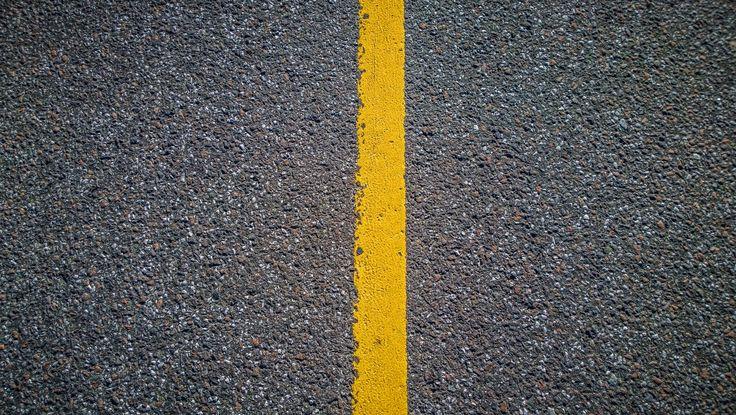 Yellow stripe in the road by Ernst Erdmann on 500px