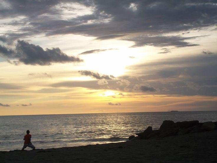 sunset at Padang Beach