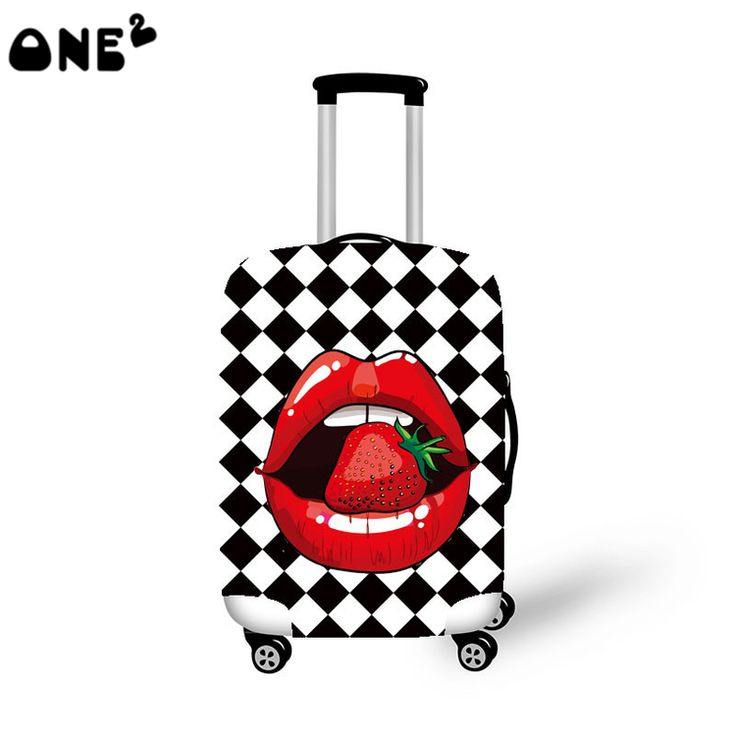 2016ONE2 fashion travel luggages cover 22,24,26 inch luggage cover big mouth pattern popular childern luggage cover
