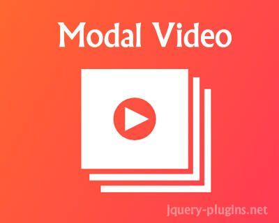 Modal Video – jQuery Modal Video Plugin #video #YouTube #modal #Vimeo #videobox #API #lightbox #jQuery