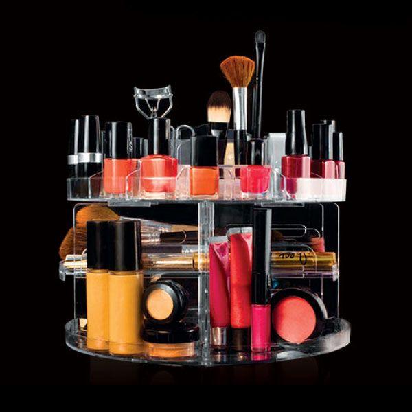 CAILI Organisateur de Maquillage Or Rose Stylos Cosm/étiques Organisateur pour Pinceaux /à Maquillage Conteneur /à Bougie Rangement en Cristal Pot /à Crayons Organiseur de Bureau