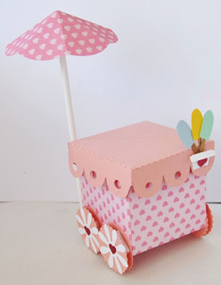 Lembrancinha em formato de carrocinha de sorvete, ela serve para vários eventos: chá de bebê, matrnidade,  festa infantil a tampa abre para que no seu interior possam ser colocadas as lembranças inerentes ao tema