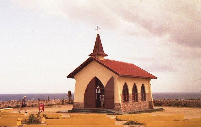 Alto Vista Chapel, one of the most recognizable monuments of Aruba