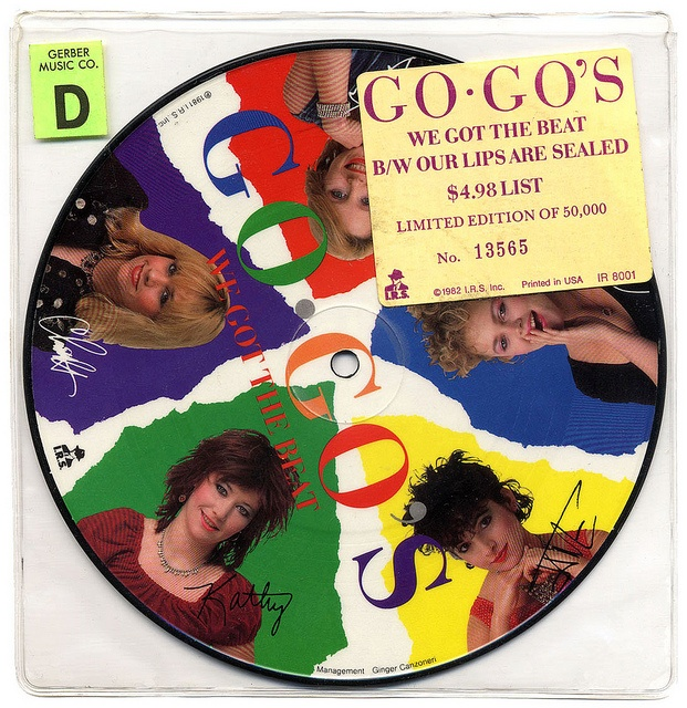 We Got The Beat b/w Our Lips Are Sealed  Go-Go's, I.R.S. Records (1982)     Front of Sleeve/Picture disc
