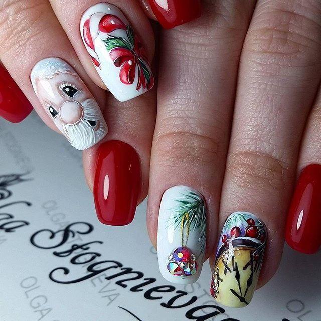 #Repost @olgastognieva ・・・ ❄ #комбиманикюр #гельлак #ручнаяросписьнаногтях #зимниедизайныногтей #гельлак #сваровски #артдизайншеллак #nails_page #nails_masters #nail_art_club #nails_Journal #nails_page #идеиманикюра  #модныйманикюр