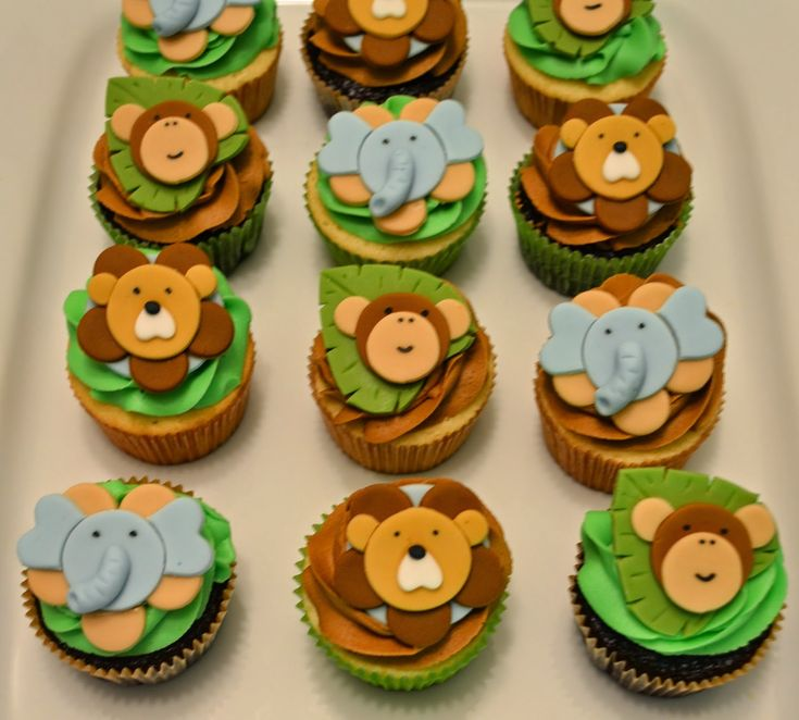 1000+ Ideas About Jungle Theme Cupcakes On Pinterest