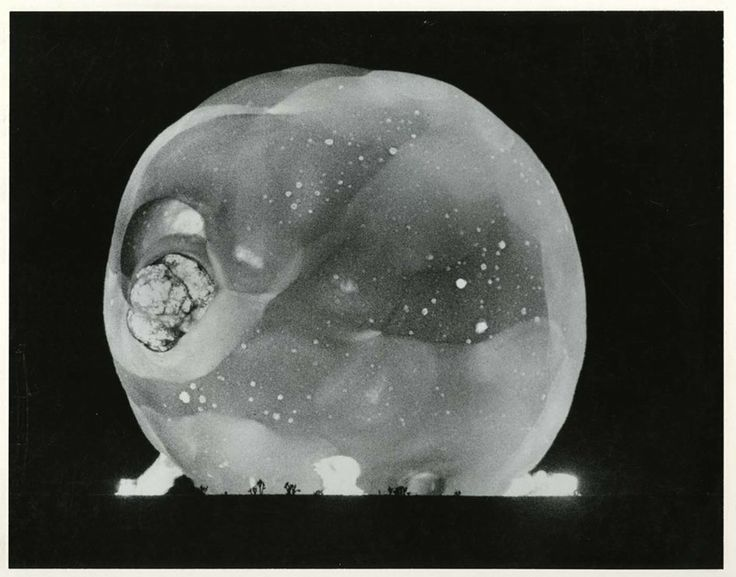 Photographs of early atomic experiments taken by Harold Edgerton with his rapatronic camera. Courtesy of Smithsonian's National Musuem of Am...