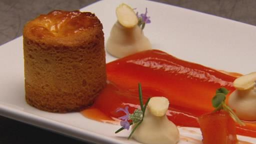 SCOTLAND – Gary Mehigan's Scottish butter cake with poached quince and puree and creamy rice ice cream recipe | MasterChef Australia #MasterChefRecipes
