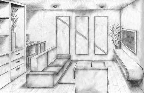Thumbnail o one point perspective bedroom - Two point perspective living room ...