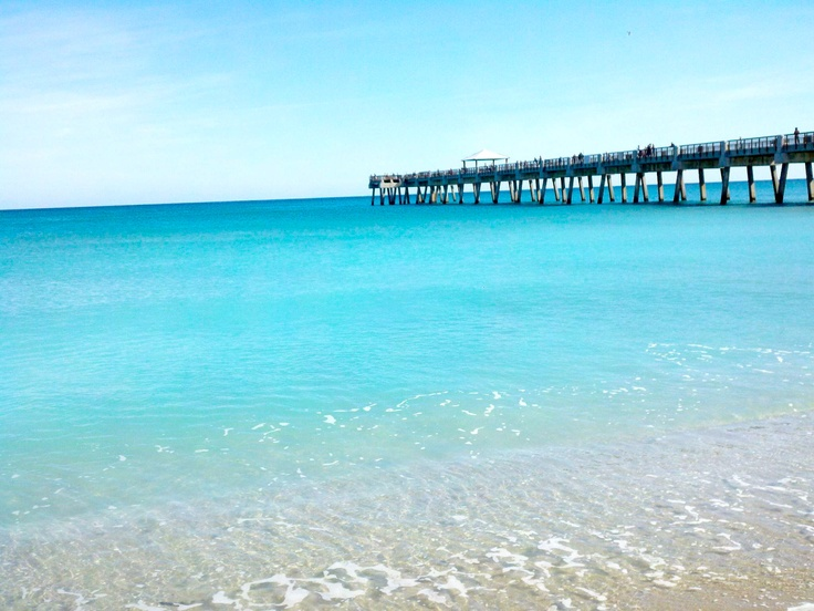 Juno Beach Pier. Love this place, and I cannot wait to go snorkeling in a few days in these crystal clear waters!