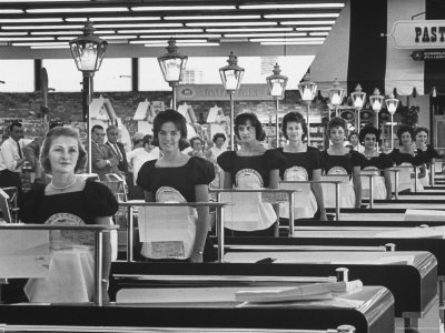 Piggly Wiggly Checkers in New Encino Store / This image from the archives of LIFE magazine first appeared on November 23, 1962. / by Allan Grant