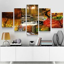 HD Canvas Print home decor wall art painting Beautiful Picture 5p(no framed)#105